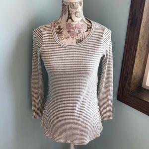 Papermoon | Kealy Crochet Side Split Striped Top